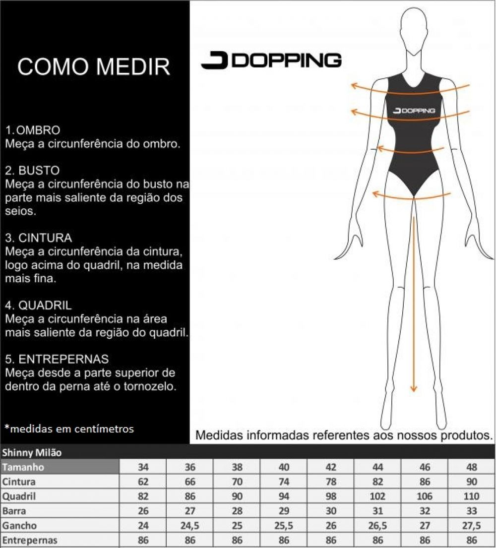 CALCA FEM DOPPING MILAO